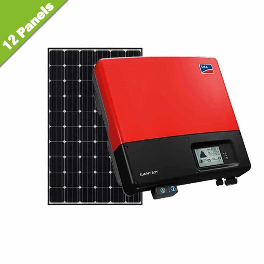 lg mono neon 3kw 12 panel solar kit gas works. Black Bedroom Furniture Sets. Home Design Ideas