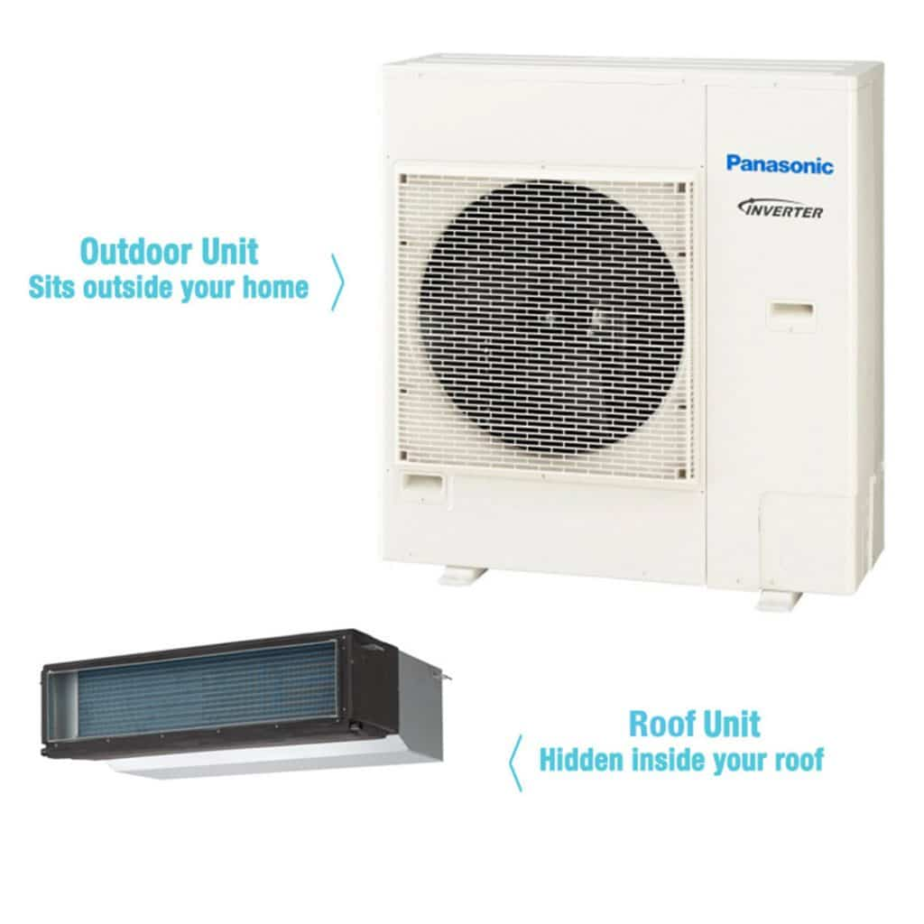 Panasonic 7 1kw Inverter Ducted Air Conditioner Gas Works